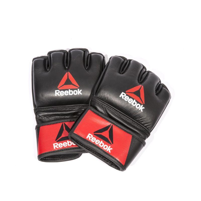 Фотография Профессиональные кожаные перчатки Reebok Combat для MMA 0
