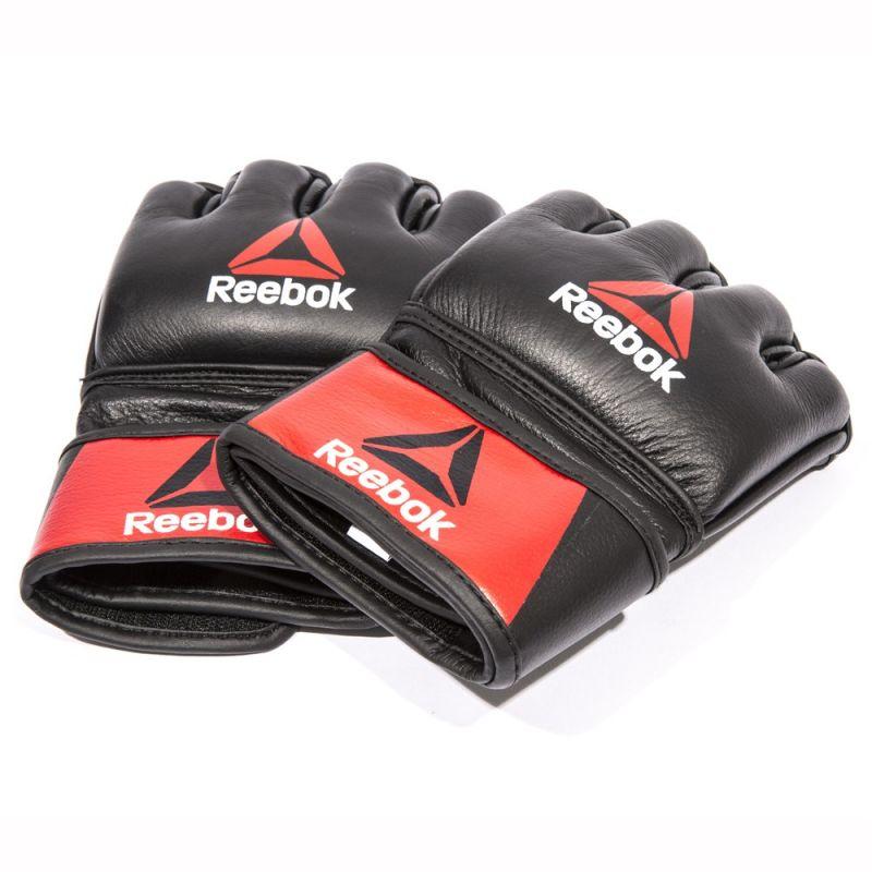 Фотография Профессиональные кожаные перчатки Reebok Combat для MMA 1