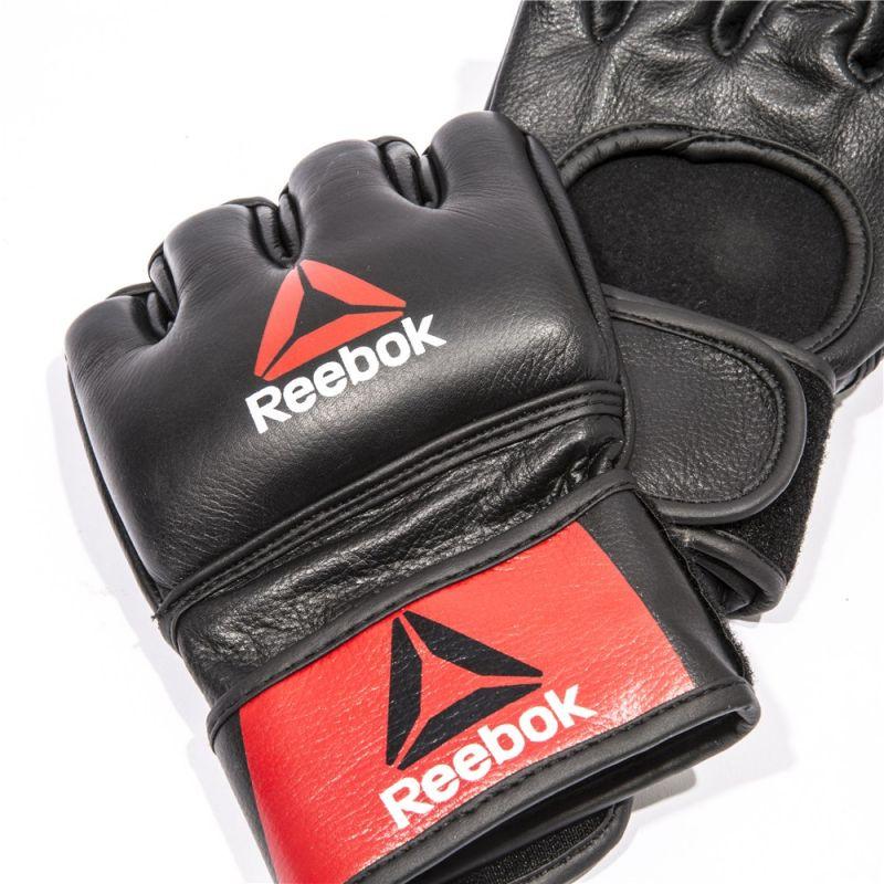 Фотография Профессиональные кожаные перчатки Reebok Combat для MMA 2