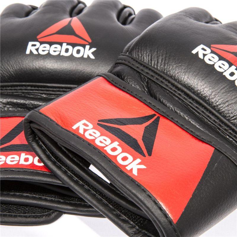 Фотография Профессиональные кожаные перчатки Reebok Combat для MMA 3