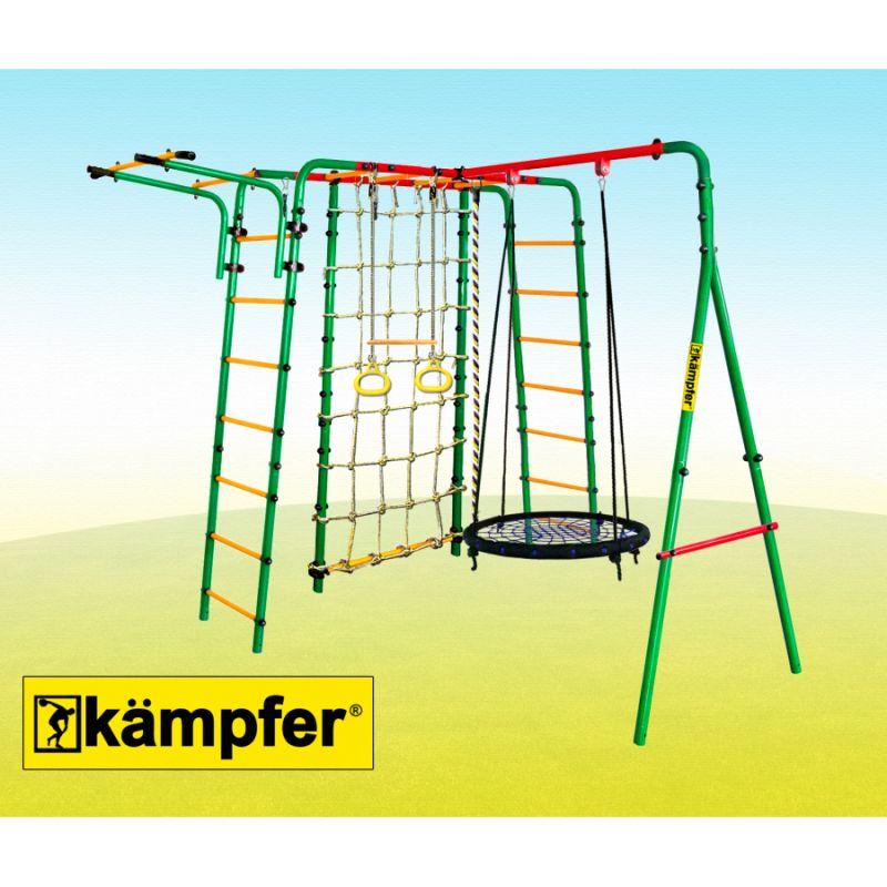 Фотография Уличный детский спортивный комплекс Kampfer Kindisch  (Гнездо большое синее) 1