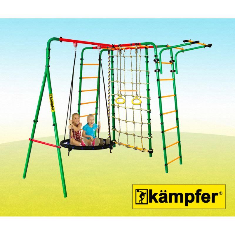 Фотография Уличный детский спортивный комплекс Kampfer Kindisch  (Гнездо большое синее) 2