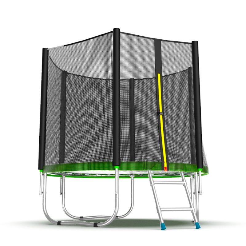Фотография EVO Jump External 6ft Батут с внешней сеткой и лестницей, диаметр 6ft 5