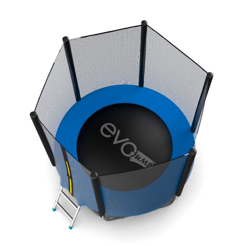 Фотография EVO Jump External 6ft Батут с внешней сеткой и лестницей, диаметр 6ft 7