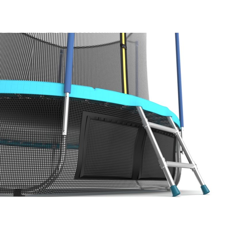 Фотография EVO JUMP Internal 8ft (цвет Sky или Wave) Батут с внутренней сеткой и лестницей, диаметр 8ft + нижняя сеть 6