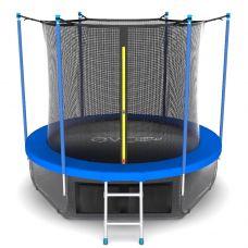 Миниатюра EVO JUMP Internal 8ft (цвет Sky или Wave) Батут с внутренней сеткой и лестницей, диаметр 8ft + нижняя сеть 0  мини