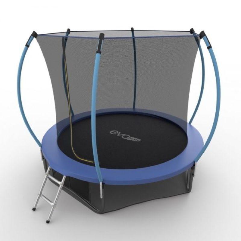 Фотография EVO JUMP Internal 8ft + Lower net. Батут с внутренней сеткой и лестницей, диаметр 8ft + нижняя сеть 7