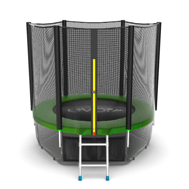 Фотография EVO JUMP External 6ft + Lower net. Батут с внешней сеткой и лестницей, диаметр 6ft + нижняя сеть 0