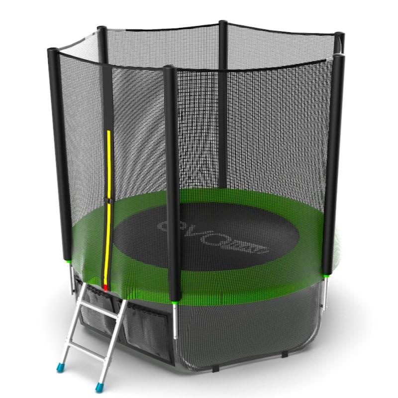 Фотография EVO JUMP External 6ft + Lower net. Батут с внешней сеткой и лестницей, диаметр 6ft + нижняя сеть 4