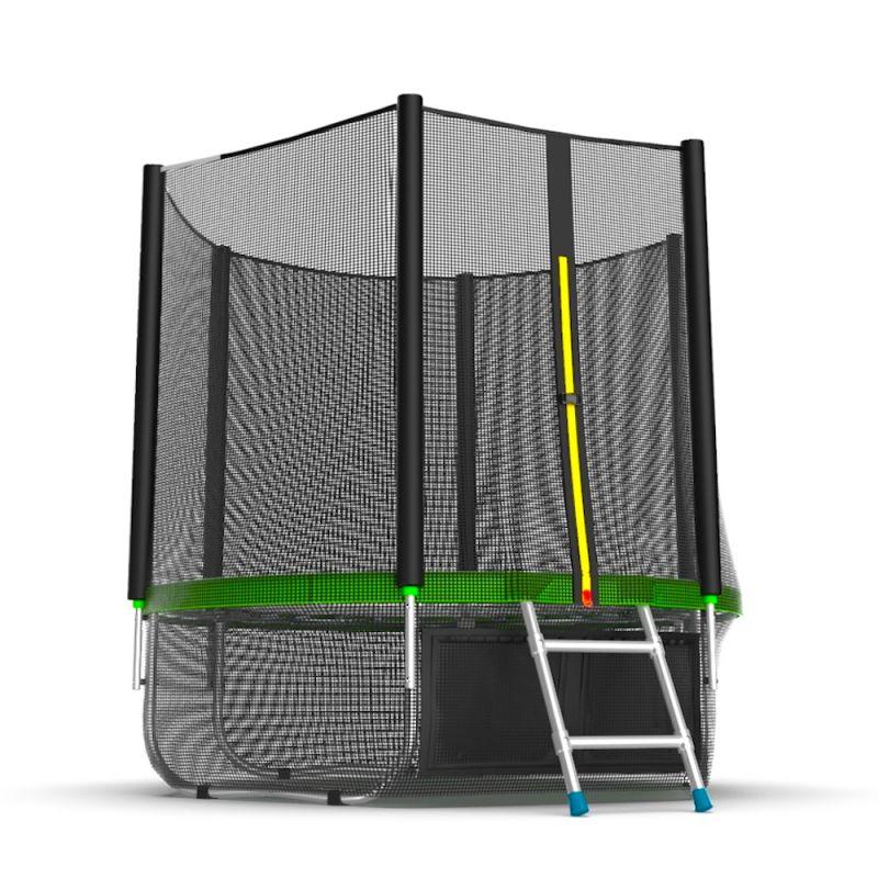 Фотография EVO JUMP External 6ft + Lower net. Батут с внешней сеткой и лестницей, диаметр 6ft + нижняя сеть 5