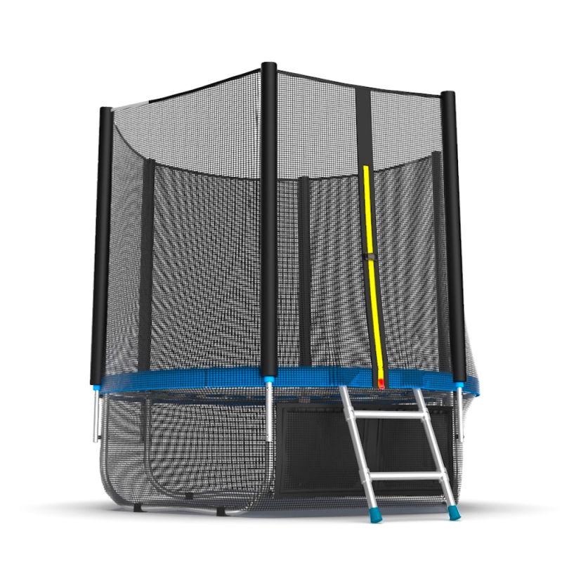 Фотография EVO JUMP External 6ft + Lower net. Батут с внешней сеткой и лестницей, диаметр 6ft + нижняя сеть 7