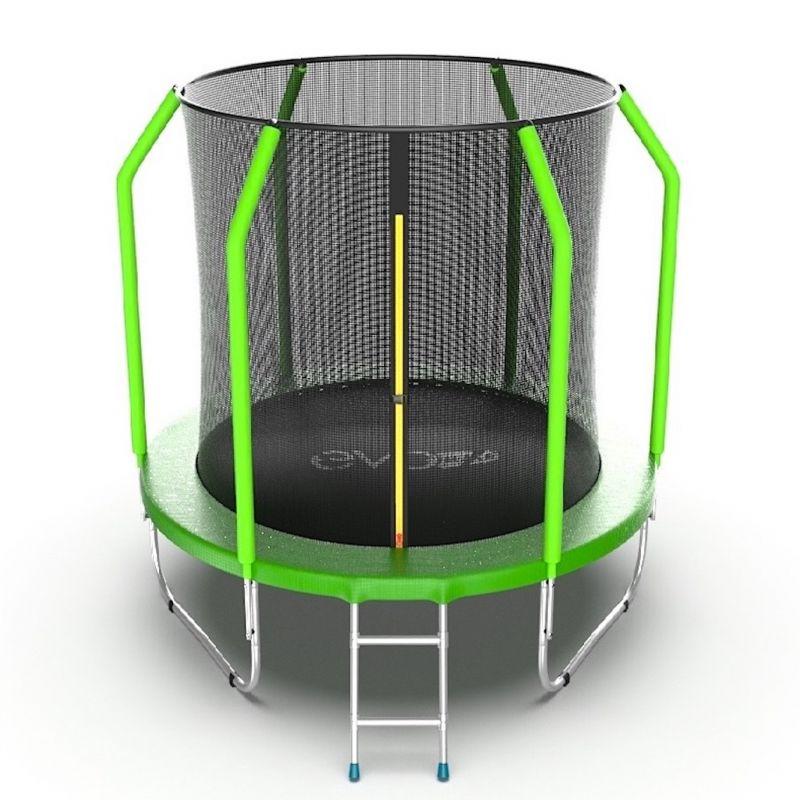 Фотография EVO Jump Cosmo 6ft Батут с внутренней сеткой и лестницей, диаметр 6ft 0