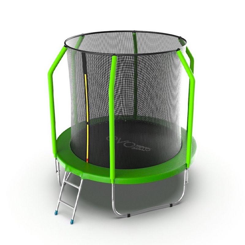 Фотография EVO Jump Cosmo 6ft Батут с внутренней сеткой и лестницей, диаметр 6ft 1
