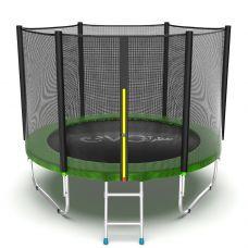 Миниатюра EVO JUMP External 8ft Батут с внешней сеткой и лестницей, диаметр 8ft 0  мини