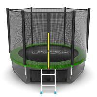 EVO JUMP External 8ft + Lower net. Батут с внешней сеткой и лестницей, диаметр 8ft + нижняя сеть