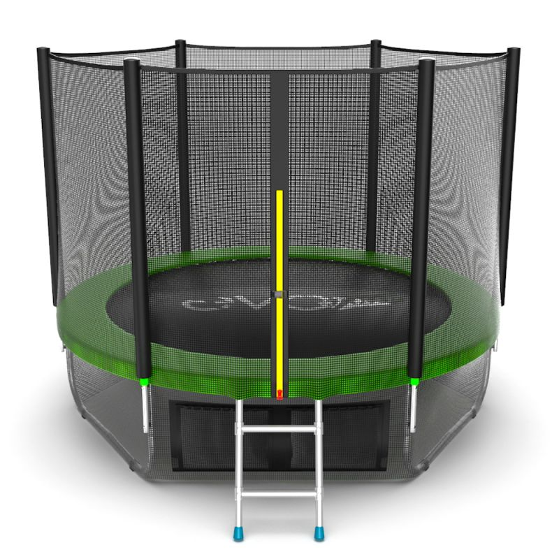 Фотография EVO JUMP External 8ft + Lower net. Батут с внешней сеткой и лестницей, диаметр 8ft + нижняя сеть 0