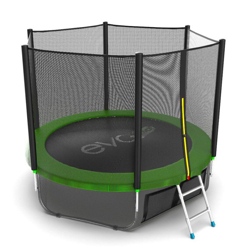 Фотография EVO JUMP External 8ft + Lower net. Батут с внешней сеткой и лестницей, диаметр 8ft + нижняя сеть 3