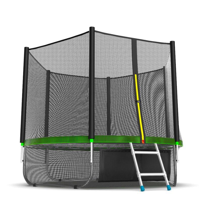 Фотография EVO JUMP External 8ft + Lower net. Батут с внешней сеткой и лестницей, диаметр 8ft + нижняя сеть 4