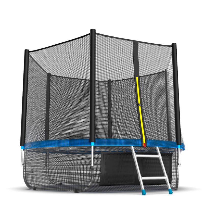 Фотография EVO JUMP External 8ft + Lower net. Батут с внешней сеткой и лестницей, диаметр 8ft + нижняя сеть 5