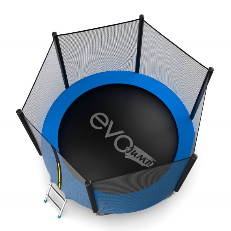 Фотография EVO JUMP External 8ft + Lower net. Батут с внешней сеткой и лестницей, диаметр 8ft + нижняя сеть 7