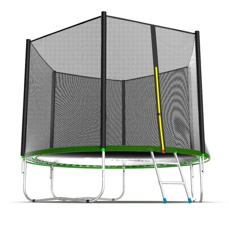Фотография EVO JUMP External 10ft Батут с внешней сеткой и лестницей, диаметр 10ft 8