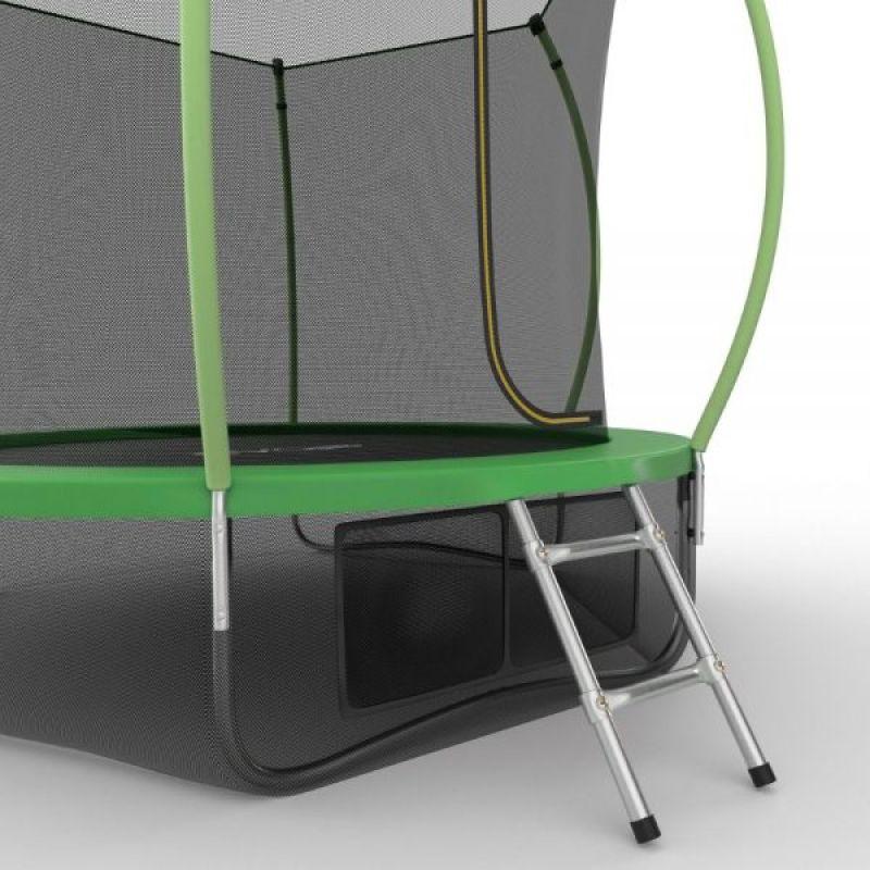 Фотография EVO JUMP Internal 10ft + Lower net. Батут с внутренней сеткой и лестницей, диаметр 10ft + нижняя сеть 8