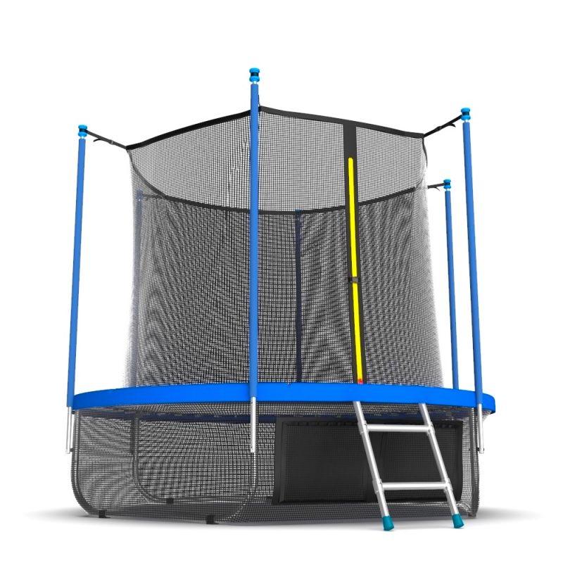 Фотография EVO JUMP Internal 10ft (цвет Sky или Wave) Батут с внутренней сеткой и лестницей, диаметр 10ft + нижняя сеть 4