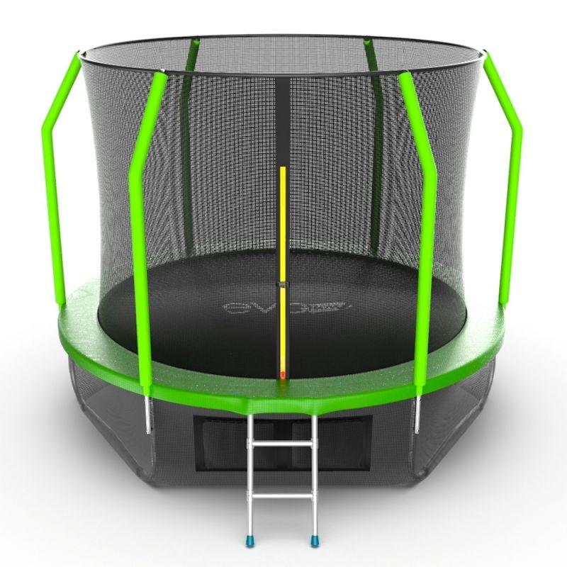 Фотография EVO JUMP Cosmo 10ft + Lower net. Батут с внутренней сеткой и лестницей, диаметр 10ft + нижняя сеть 0