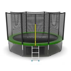 Миниатюра EVO JUMP External 12ft + Lower net. Батут с внешней сеткой и лестницей, диаметр 12ft + нижняя сеть 0  мини