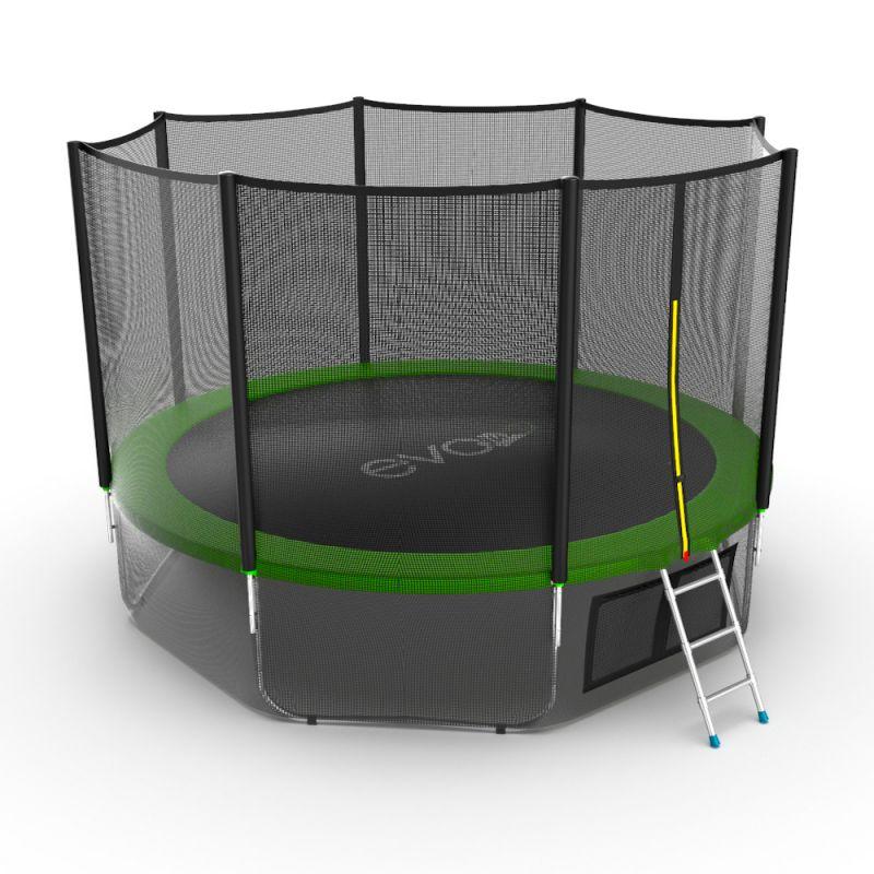 Фотография EVO JUMP External 12ft + Lower net. Батут с внешней сеткой и лестницей, диаметр 12ft + нижняя сеть 5