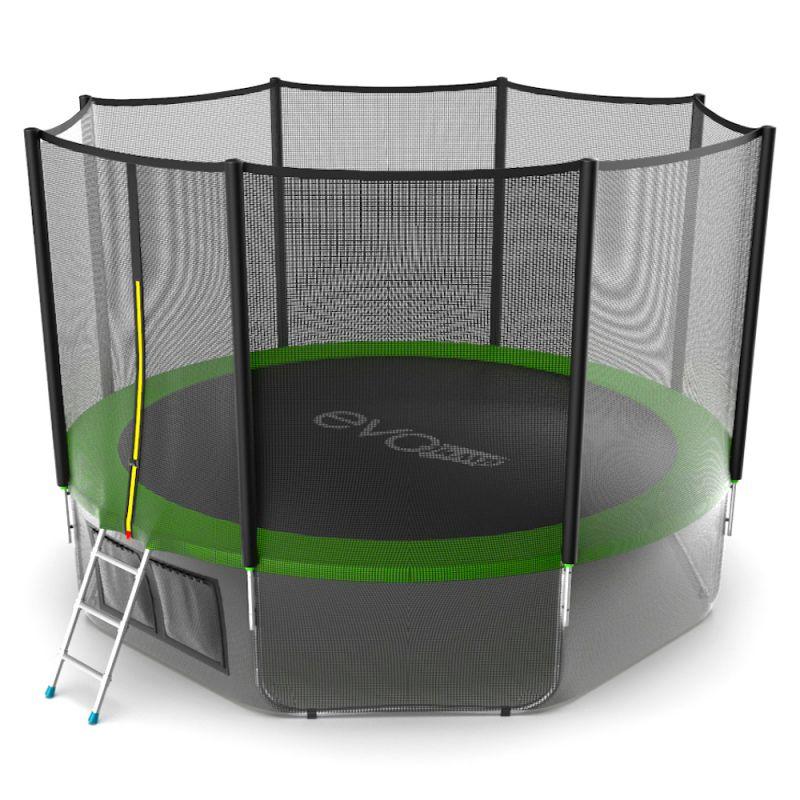 Фотография EVO JUMP External 12ft + Lower net. Батут с внешней сеткой и лестницей, диаметр 12ft + нижняя сеть 6