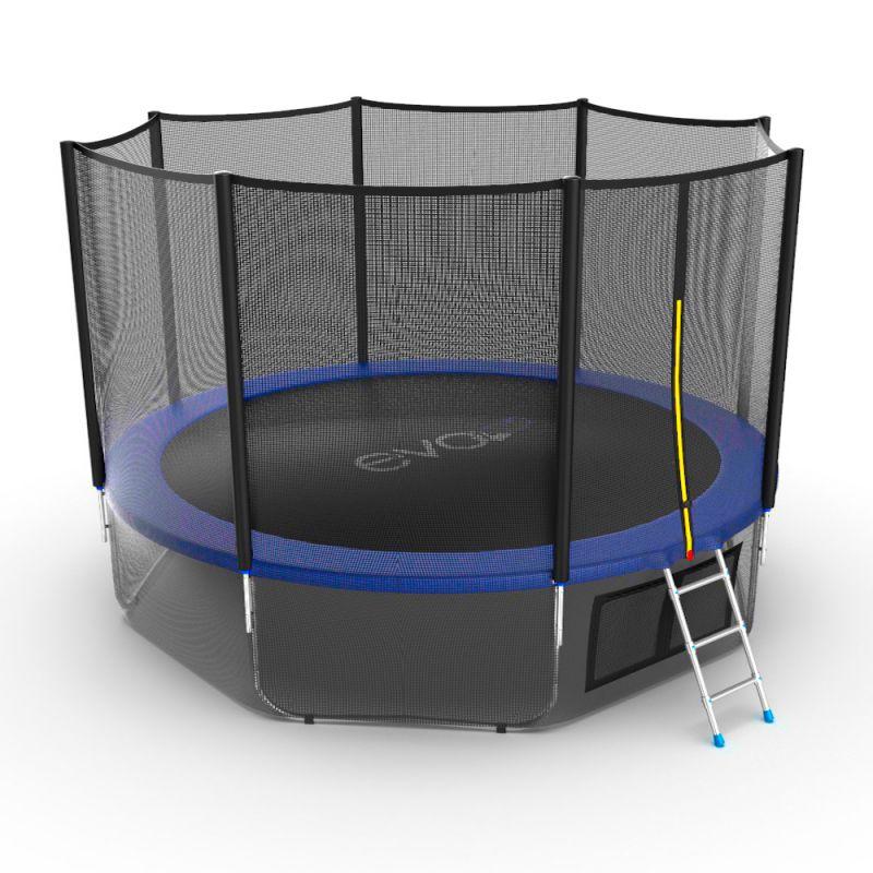 Фотография EVO JUMP External 12ft + Lower net. Батут с внешней сеткой и лестницей, диаметр 12ft + нижняя сеть 7