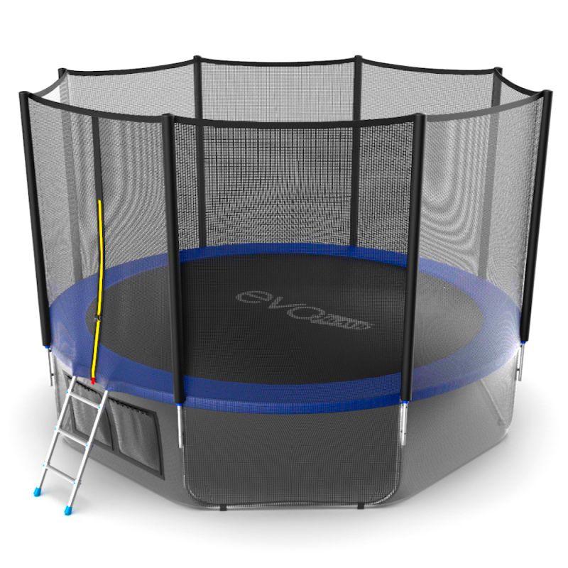 Фотография EVO JUMP External 12ft + Lower net. Батут с внешней сеткой и лестницей, диаметр 12ft + нижняя сеть 8