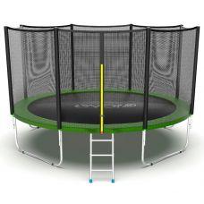 Миниатюра EVO JUMP External 12ft Батут с внешней сеткой и лестницей, диаметр 12ft 0  мини