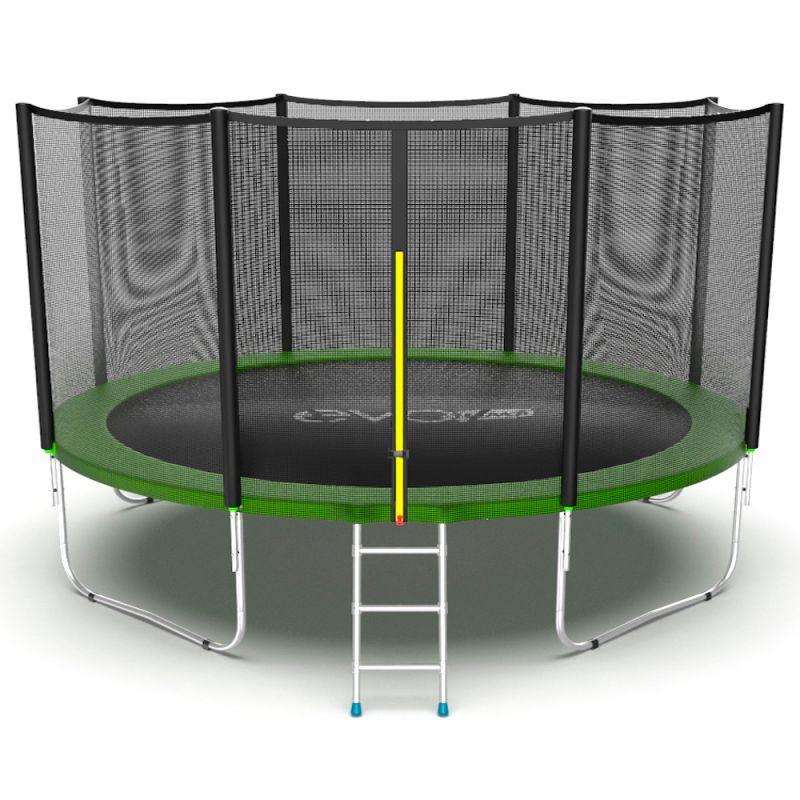 Фотография EVO JUMP External 12ft Батут с внешней сеткой и лестницей, диаметр 12ft 0