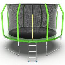 Миниатюра EVO JUMP Cosmo 12ft Батут с внутренней сеткой и лестницей, диаметр 12ft 0  мини