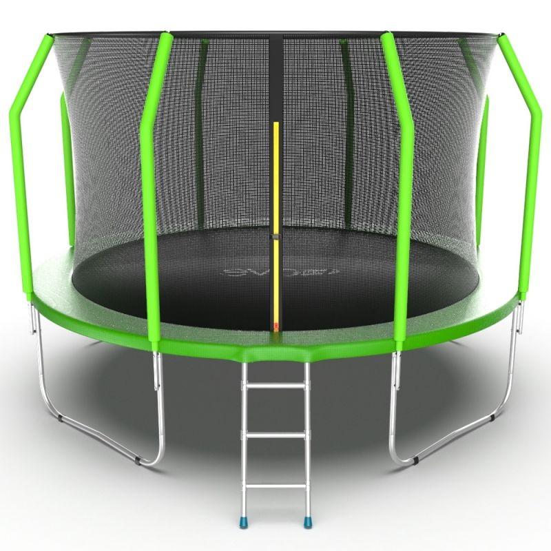 Фотография EVO JUMP Cosmo 12ft Батут с внутренней сеткой и лестницей, диаметр 12ft 0