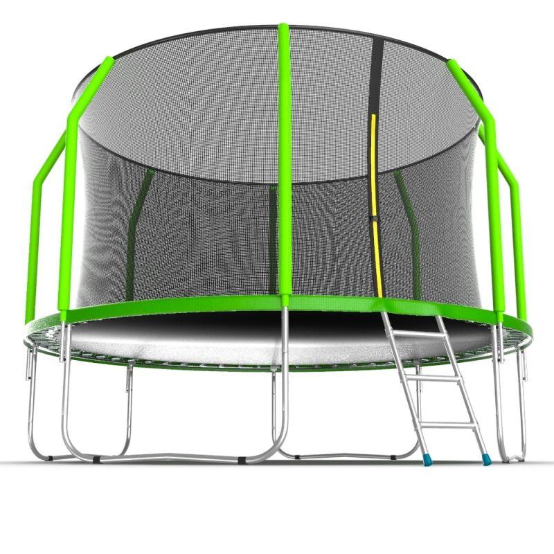 Фотография EVO JUMP Cosmo 12ft Батут с внутренней сеткой и лестницей, диаметр 12ft 2