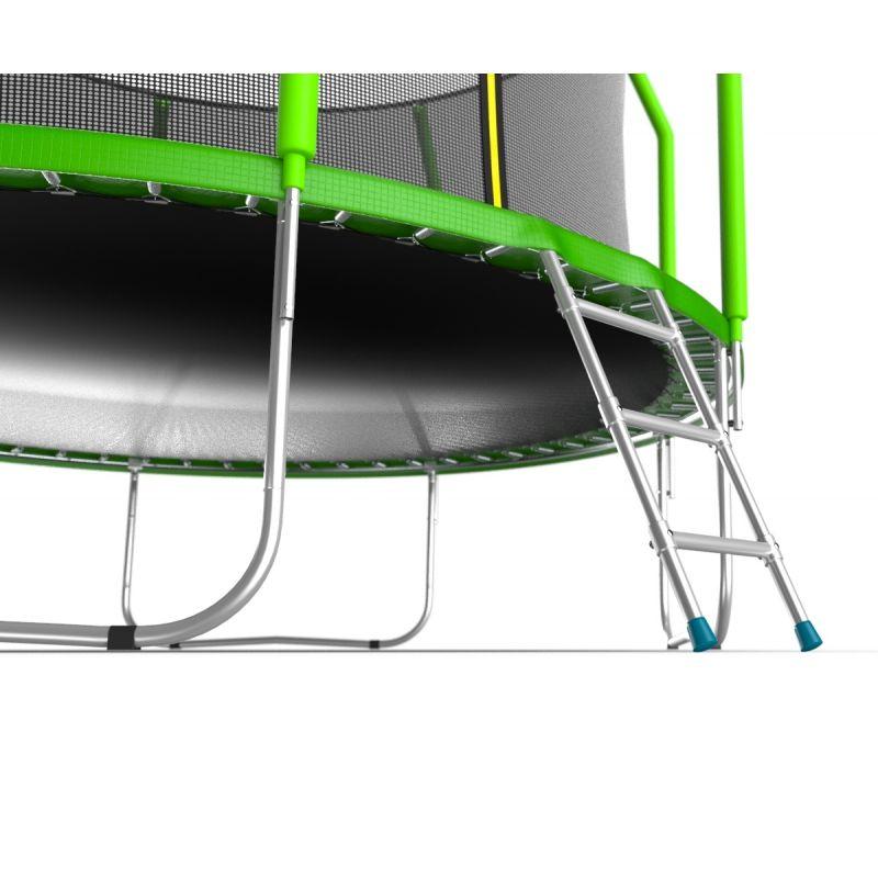 Фотография EVO JUMP Cosmo 12ft Батут с внутренней сеткой и лестницей, диаметр 12ft 5