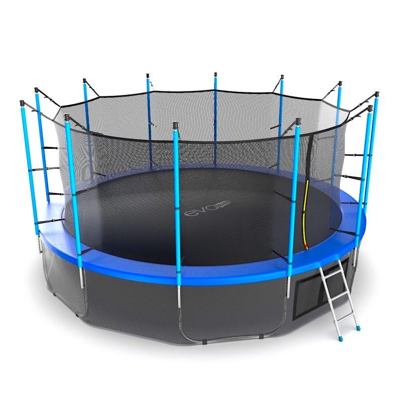 Фотография EVO JUMP Internal 16ft + Lower net. Батут с внутренней сеткой и лестницей, диаметр 16ft + нижняя сеть 10