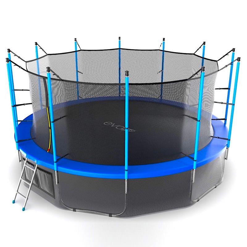 Фотография EVO JUMP Internal 16ft + Lower net. Батут с внутренней сеткой и лестницей, диаметр 16ft + нижняя сеть 12