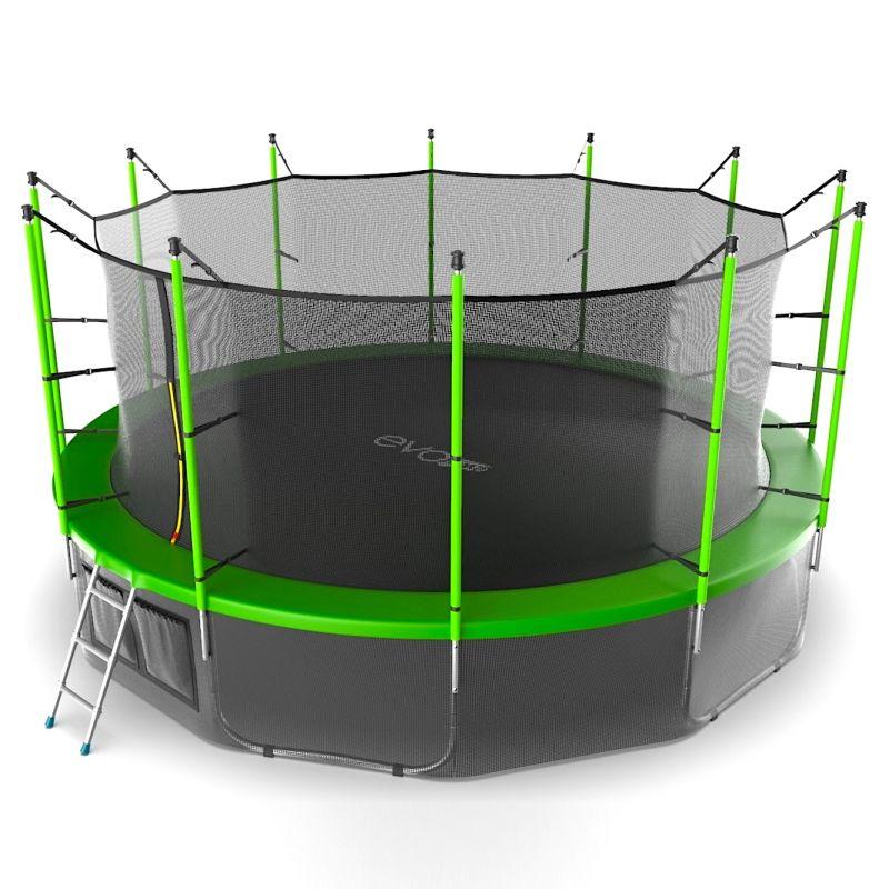 Фотография EVO JUMP Internal 16ft + Lower net. Батут с внутренней сеткой и лестницей, диаметр 16ft + нижняя сеть 9