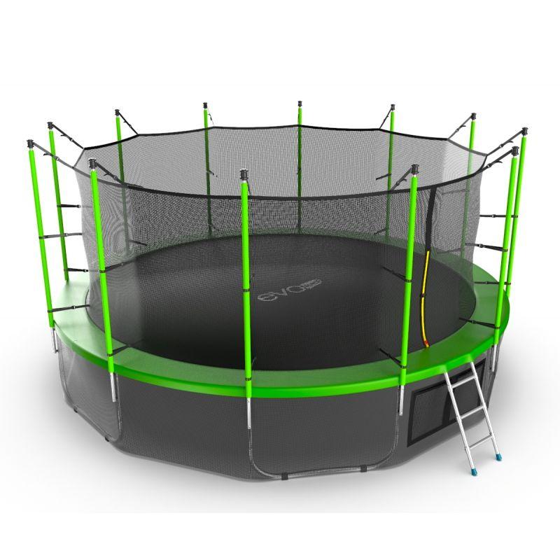 Фотография EVO JUMP Internal 16ft + Lower net. Батут с внутренней сеткой и лестницей, диаметр 16ft + нижняя сеть 11