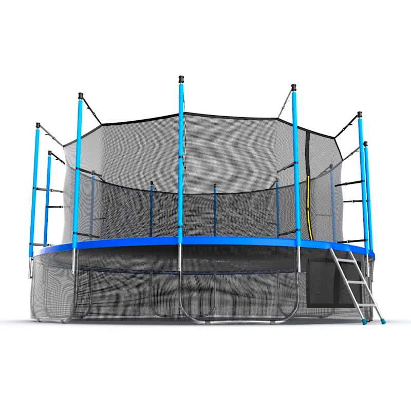 Фотография EVO JUMP Internal 16ft + Lower net. Батут с внутренней сеткой и лестницей, диаметр 16ft + нижняя сеть 4