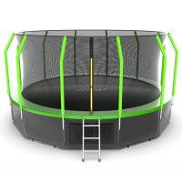 EVO JUMP Cosmo 16ft + Lower net. Батут с внутренней сеткой и лестницей, диаметр 16ft + нижняя сеть