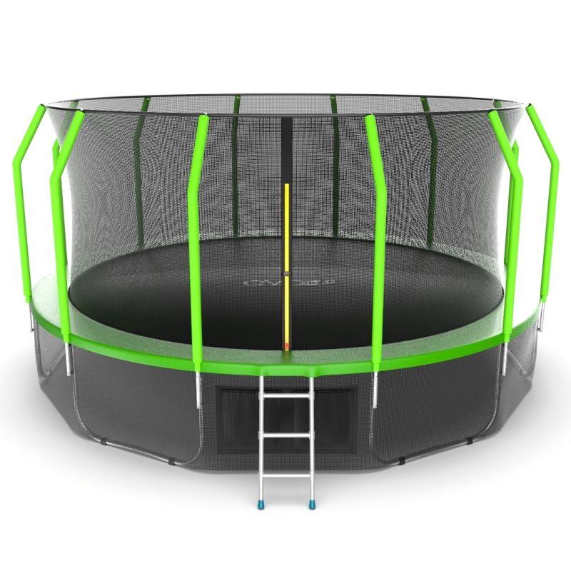 Фотография EVO JUMP Cosmo 16ft + Lower net. Батут с внутренней сеткой и лестницей, диаметр 16ft + нижняя сеть 0