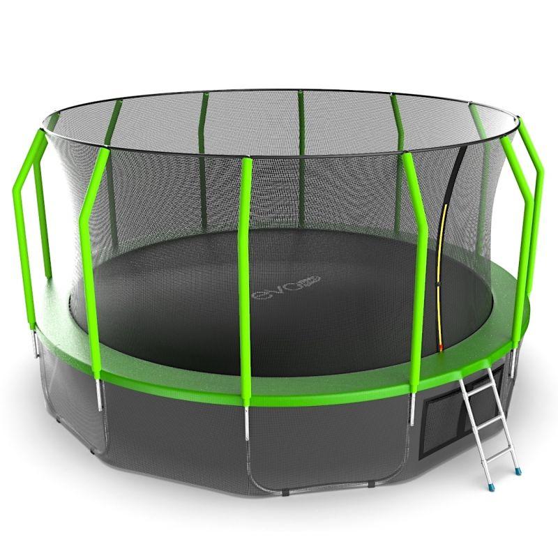Фотография EVO JUMP Cosmo 16ft + Lower net. Батут с внутренней сеткой и лестницей, диаметр 16ft + нижняя сеть 4