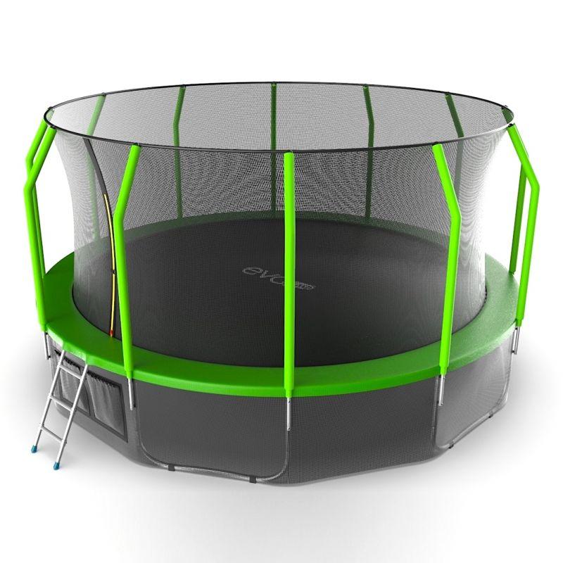 Фотография EVO JUMP Cosmo 16ft + Lower net. Батут с внутренней сеткой и лестницей, диаметр 16ft + нижняя сеть 2