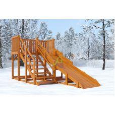 Миниатюра Зимняя деревянная горка Snow Fox, скат 4 м 0  мини