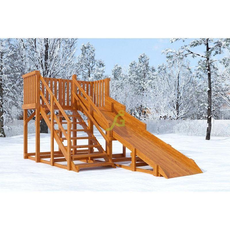 Фотография Зимняя деревянная горка Snow Fox, скат 4 м 0